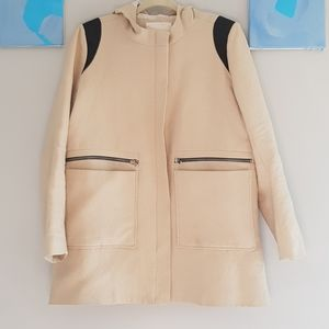 Maje thicker cotton stitched hooded jacket